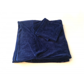 Pościel bawełniana/welurowa  4 cz. GRANATOWA - produkt na zamówienie