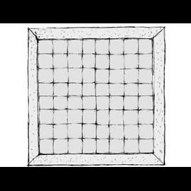Narzuta pikowana w kratę z listwą - usługa szycia